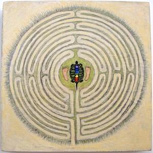 "©Barbara Grant ""Labyrinth, Straddle the Turtle #3"""